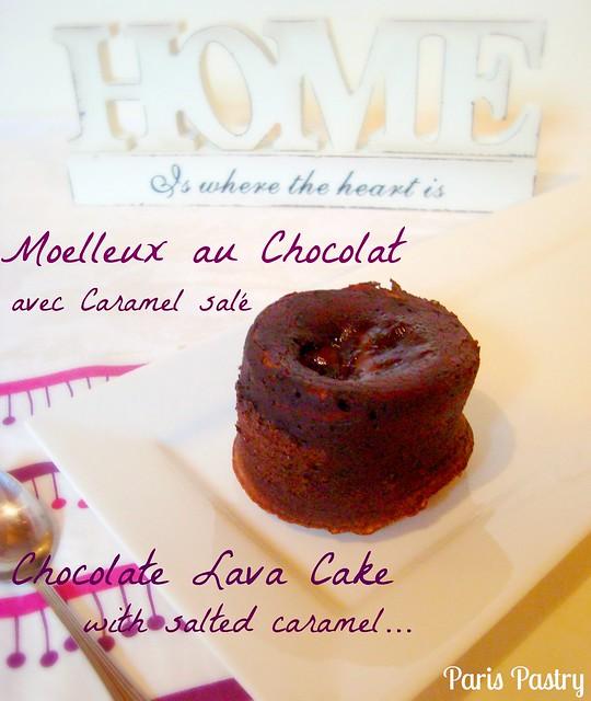 Moelleux au Chocolat avec Caramel Salé