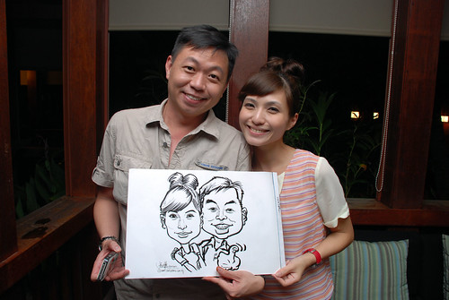 caricature live sketching for Mark Lee's daughter birthday party - 27