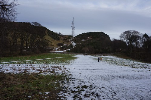 Heading up Blackford Hill, Edinburgh