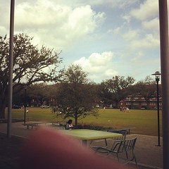 LBC Quad on a beautiful day #onlyattulane