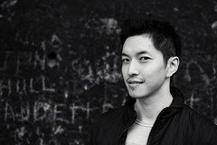 [Free Images] People, Men, Men - Asian, Black and White, Chinese People ID:201302030400