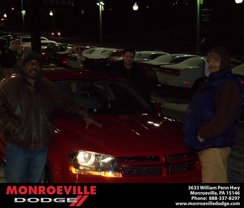 Congratulations to Charles Johnson on the 2013 Dodge Avenger by Monroeville Dodge