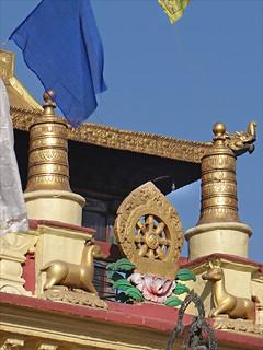 Image of Swayambhunath near Kathmandu. stupa religion népal bouddhisme swayambhunath dalbera rouedelaloi