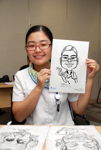 caricature live sketching for Khoo Teck Puat Hospital, Nurses' Day - 13