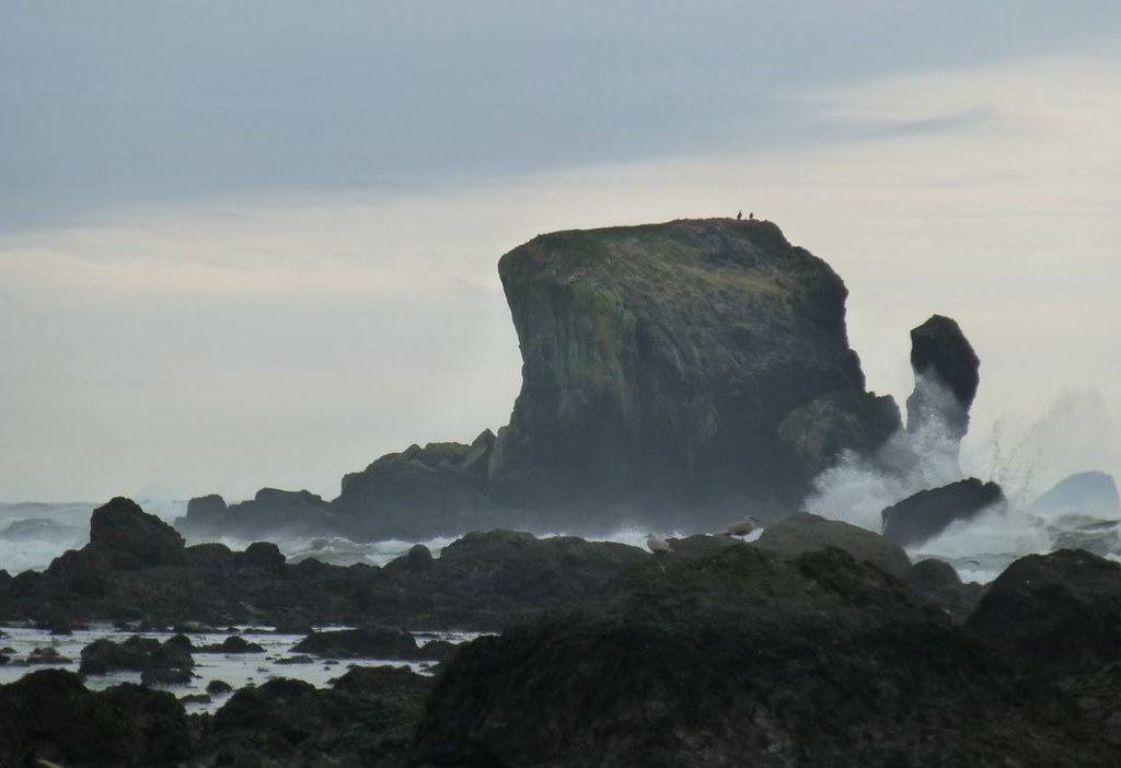 Sea stacks crash