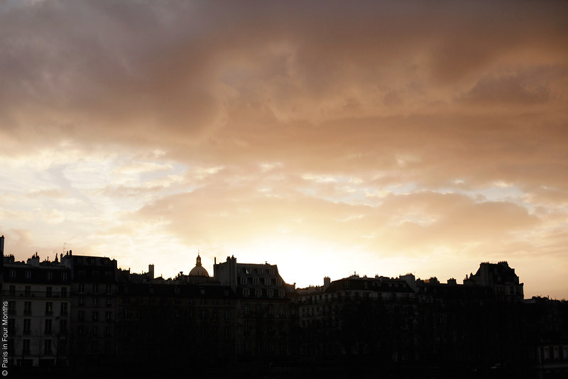 Parisian sky by Carin Olsson (Paris in Four Months)