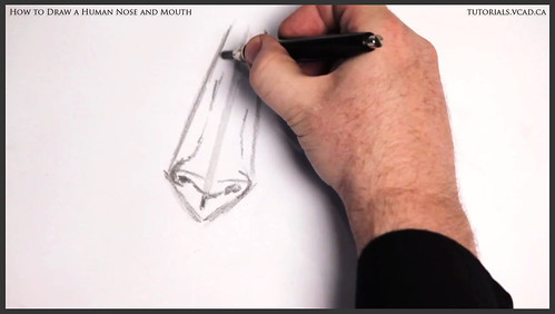 learn how to draw a human nose and mouth 004