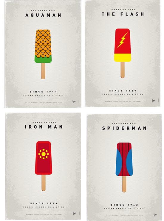 Láminas Superhéroes by Chungkong