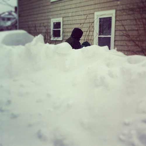 my husband is 6 feet 2-inches - attempting to shovel out the van #nemo #oldorchardbeach #maine