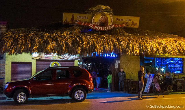 El Potrero, a discoteca in the theme of a horse stable (translates literally as