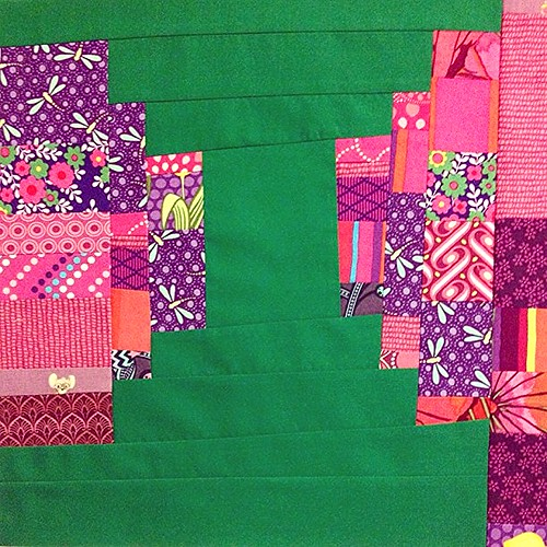 Playing around with scraps and solids by seahorsequilts