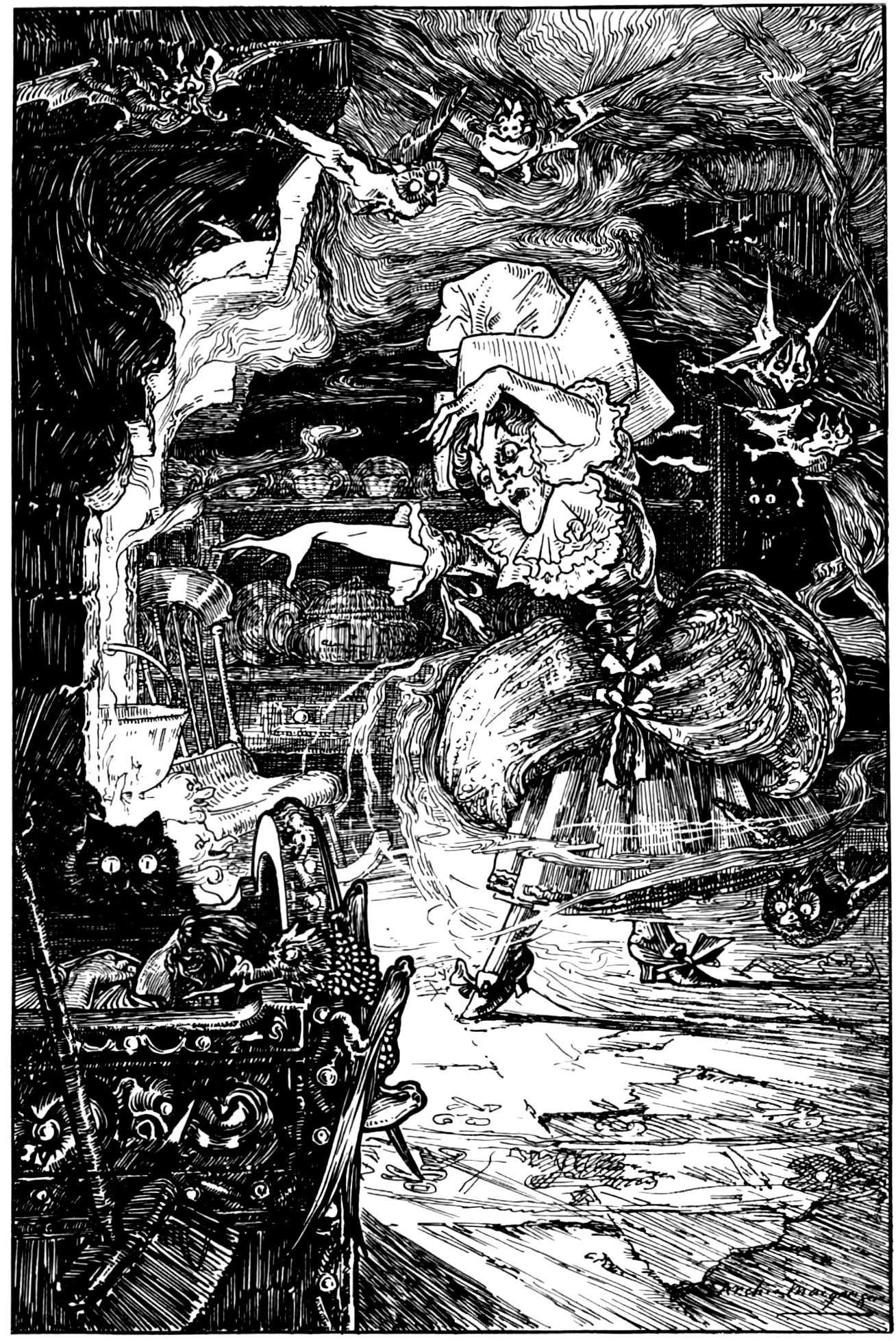 Archie MacGregor - Illustration from page255 of Butterscotia or A Cheap Trip to Fairyland by Sir Edward Abbott Parry, 1896