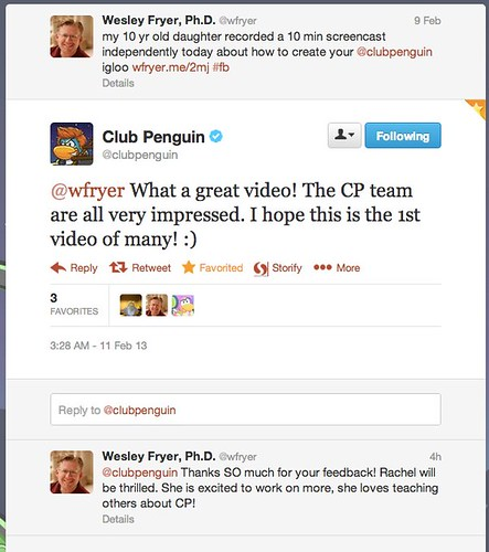 Twitter _ clubpenguin: @wfryer What a great video! ...