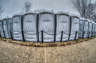 Port-a-Potties on the National Mall