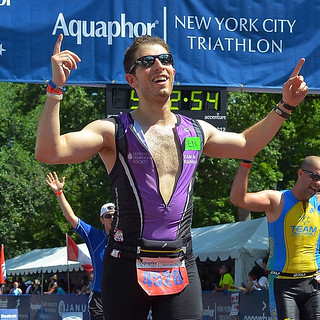 NYC Tri finish