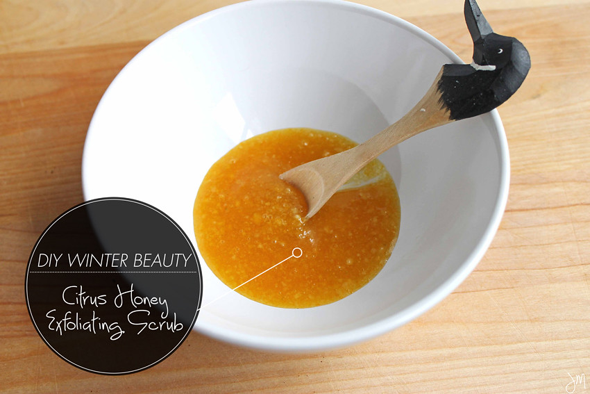 Julip Made DIY Winter Beauty citrus honey scrub4