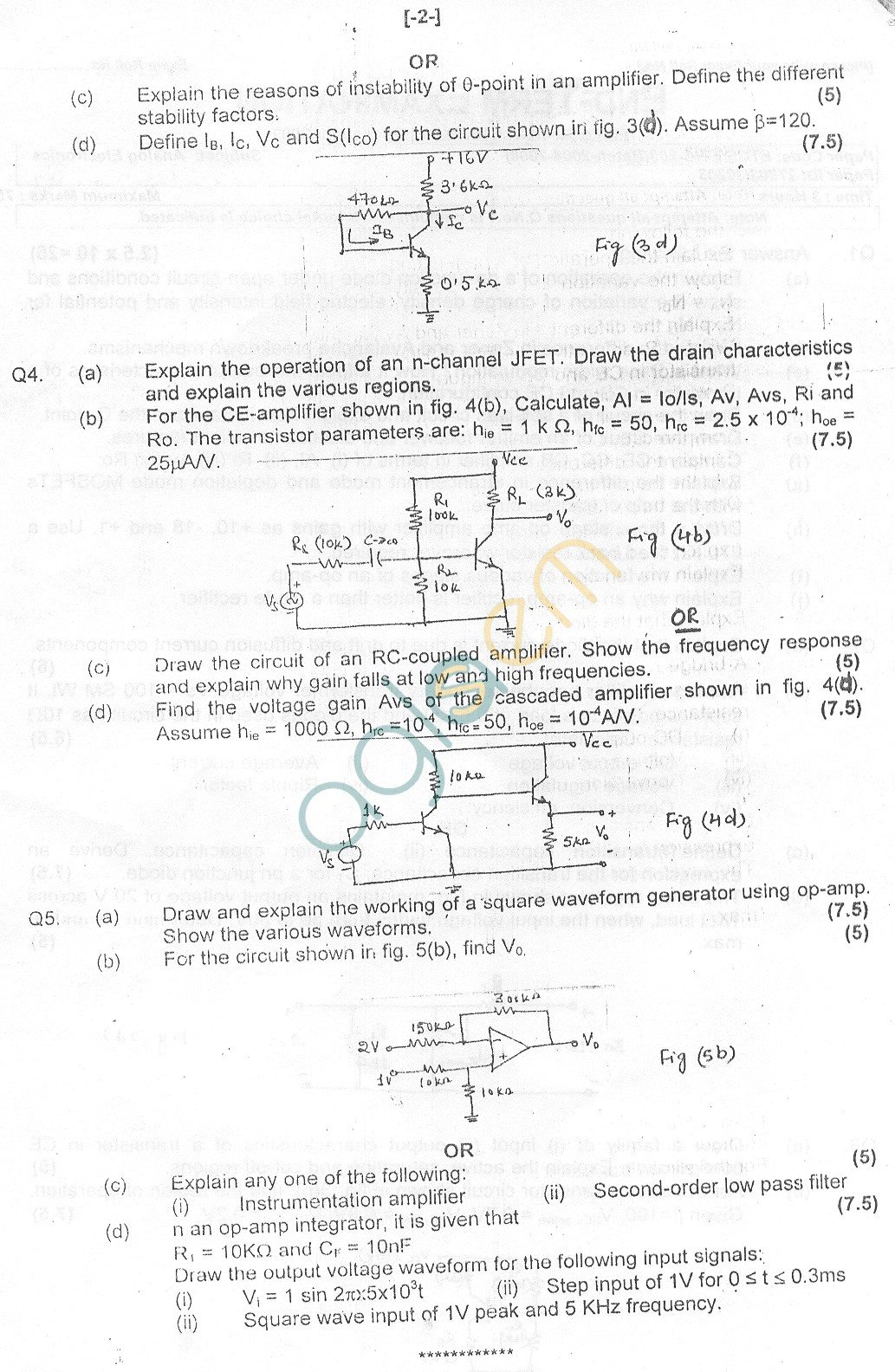 GGSIPU Question Papers Third Semester – End Term 2007 – ETCS-203