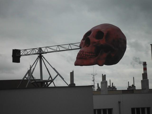 Skull on an arm