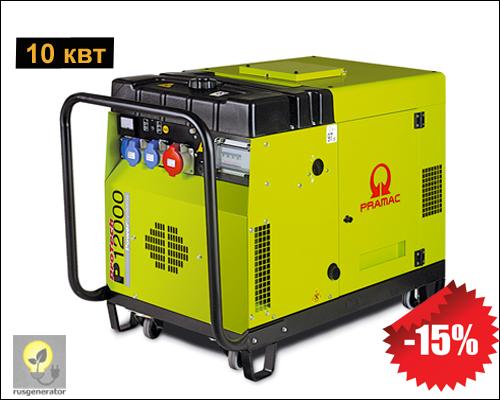 Портативный дизельный генератор 10 квт, PRAMAC P12000