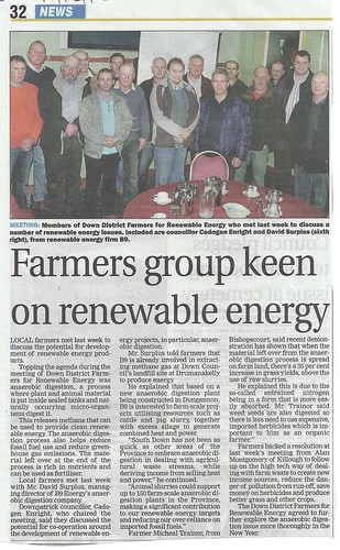 Lecale farmers meet in Downpatrick Cricket club to explore renewable enrgy options 12 12 2012 by CadoganEnright