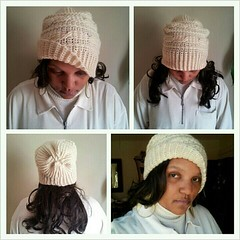 Now available! www.etsy.com/shop/blackpearl   A one of a kind slouchy hat hand crocheted in virgin wool. The wool is not dyed so you will only be able to choose the natural colors shown. It contains natural lanolin oils and it's warm and water resistant.W