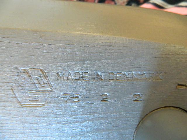 maker's stamp on danish modern chair