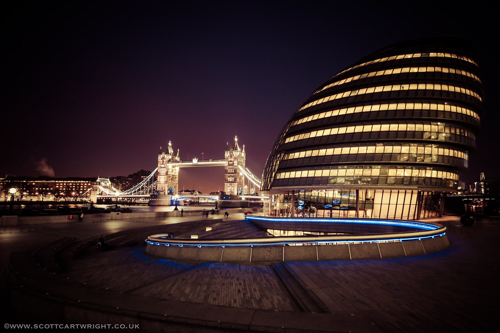 Tower Bridge & Mayor's Office At Night
