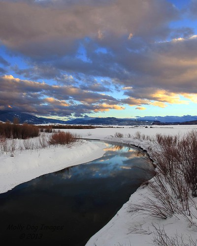 sunset reflection water clouds canon landscape colorado stream rockymountains