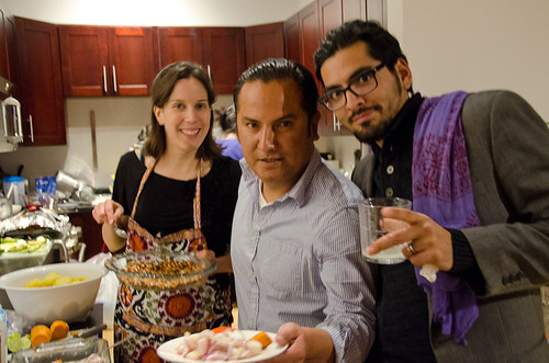 Peruvian Dinner - our happy friends
