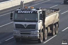 Foden 3000 450 8x4 Tipper - Silver - Emery - A12 KFE - M1 J10 - Steven Gray - IMG_0815