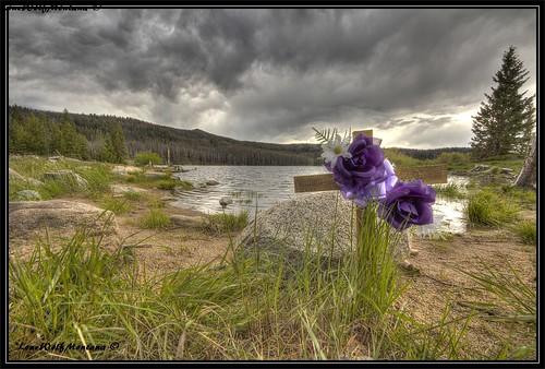park sky lake nature canon montana with storms photomatix