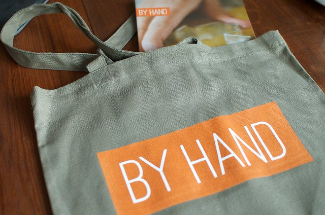 by hand and bag