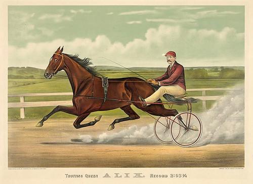 014-Imagen carreras caballos trotones-Library of Congress