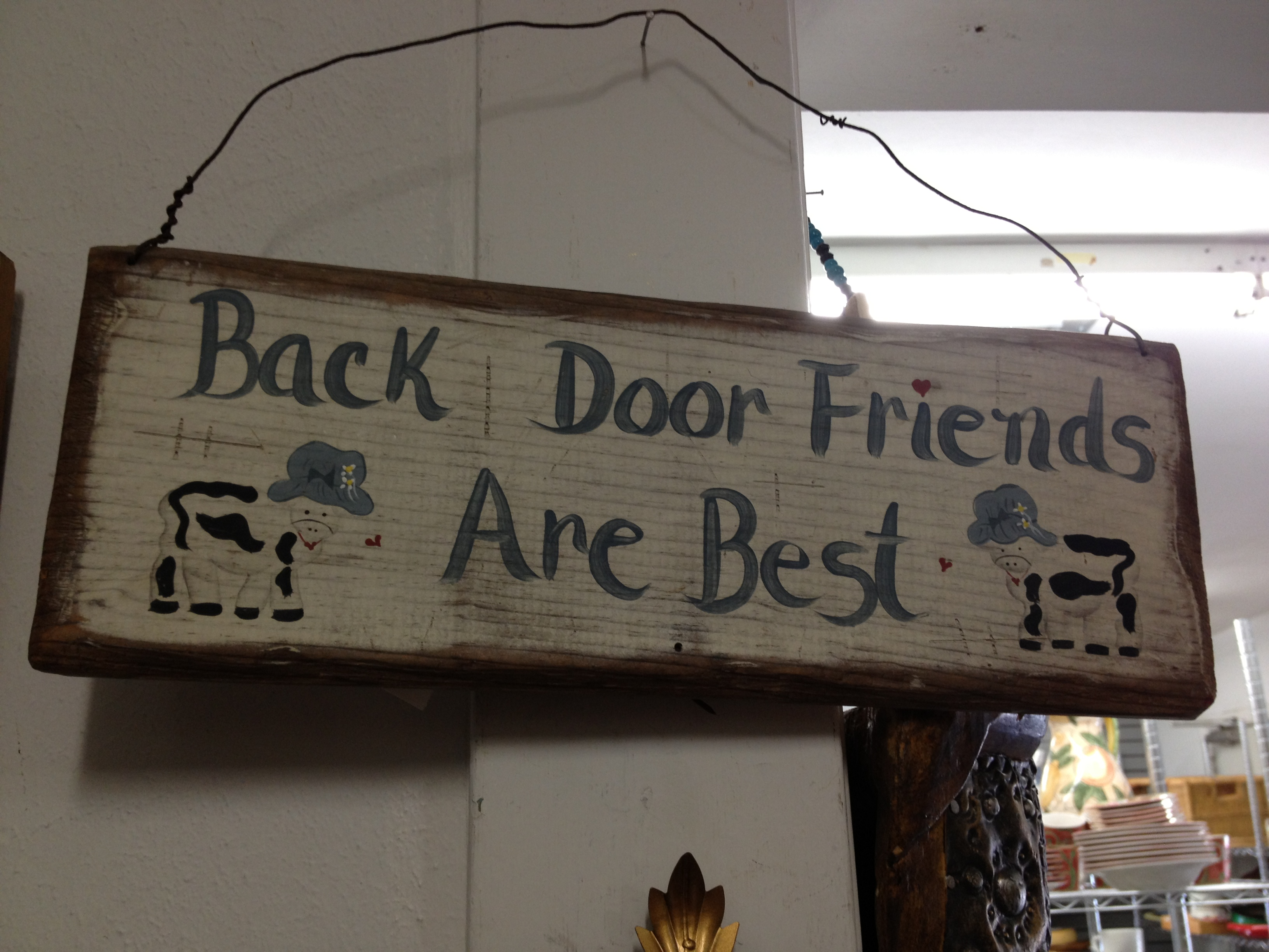 back door friends are best?!