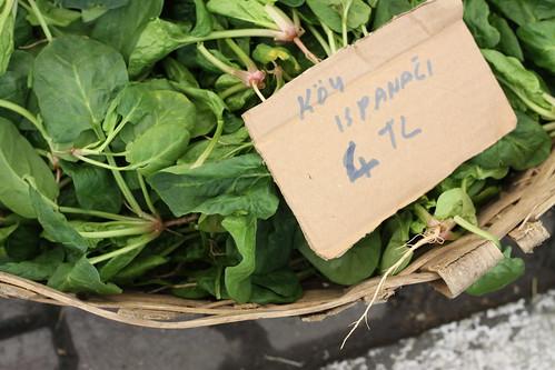 Baby Spinach at Inebolu Pazari, Istanbul
