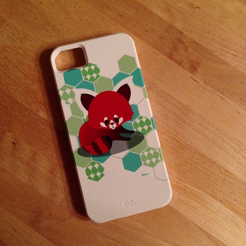 60:365 My new cell phone cover is here! Hexies & a Red Panda... Doesn't get much better than this!!