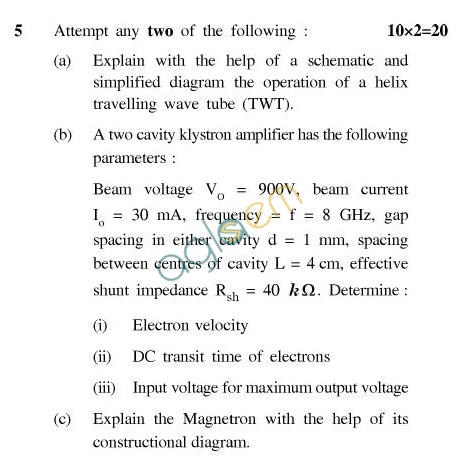 UPTU: B.Tech Question Papers - TEC-605-Antenna & Wave Propagation