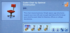Cadet Chair by Optimal Construction