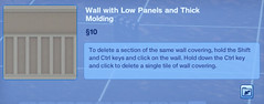 Wall with Low Panels and Thick Molding