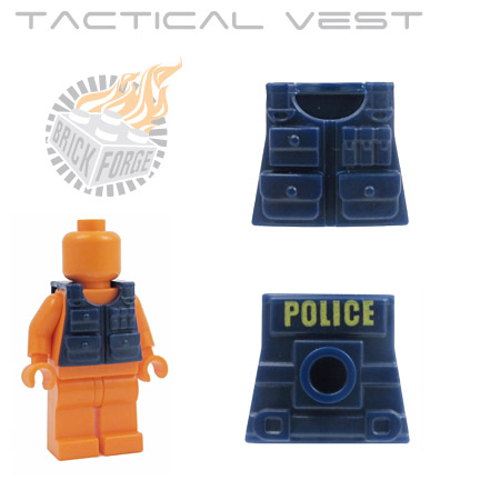 Tactical Vest - Dark Blue (yellow POLICE print)