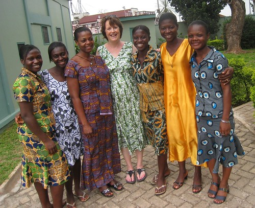 Postulants with facilitator Finola Cunnane SSL (centre) at a self-awareness workshop in Mbrom, Ghana