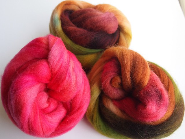 SCF-Sweet Wine-Corriedale-plus 2oz Polwarth in SCF semi solid from Winter 2012 collection