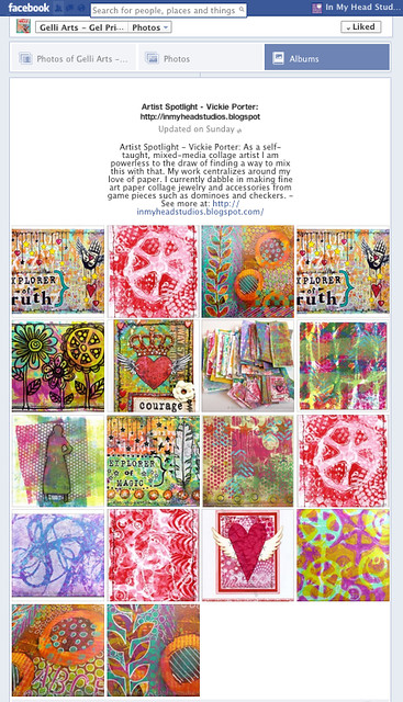 Vickie Porter Artist Spotlight Album on Gelli Art Facebook Page