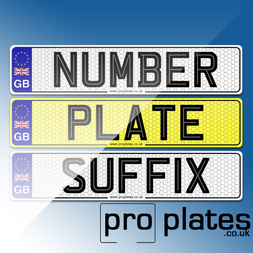 Number plate suffix, car number plates