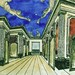 [ D ] Paul Delvaux - Decorations for the Adame Miroir balet by Jean Genet (1947)