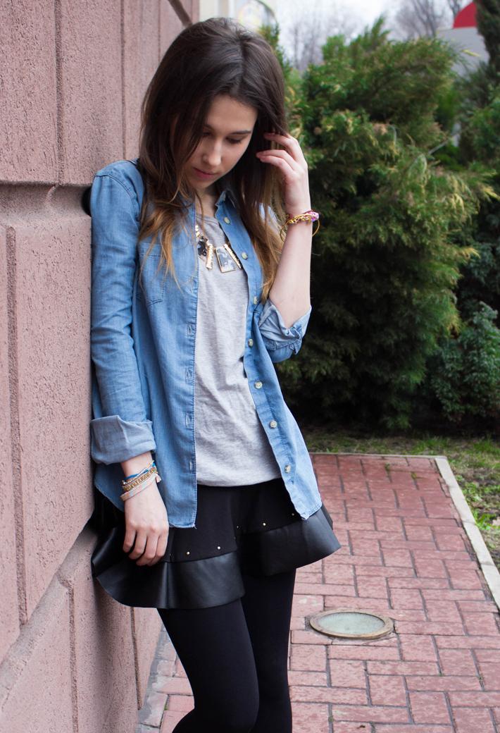 denim&leather
