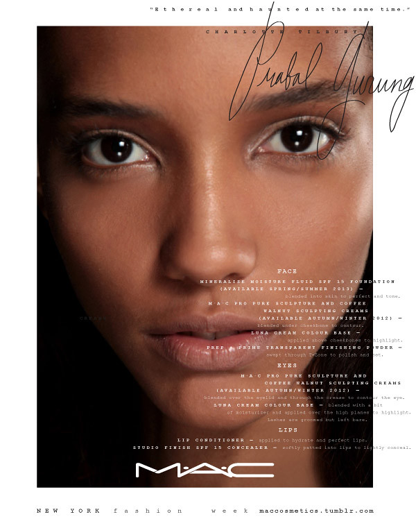 SS13_NYFW_DAILY FACE CHART_SEPT 8_Prabal Gurung Signature