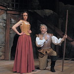 Arvada Center Man of La Mancha Jennifer DeDominici (Aldonza) William Michals (Don Quixote) Photo P. Switzer 2013 -