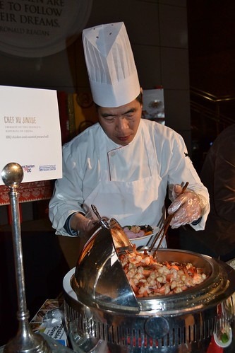 Chef Xu Jinxue Prepares the Shrimp