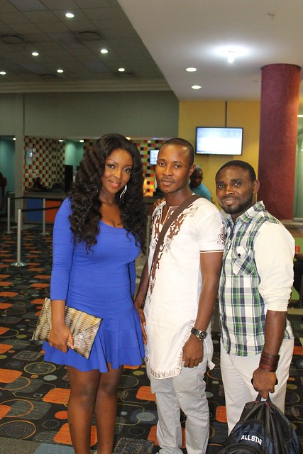 Yvonne Okoro poses with Francis Addo of NEWS-ONE and Uduak from Nigeria 1